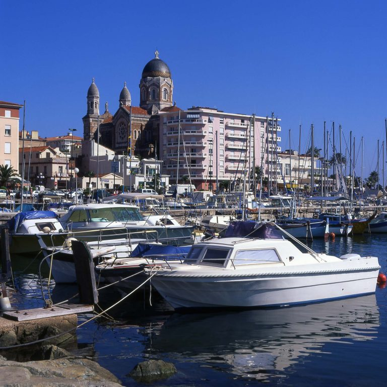 Saint Raphael Harbour and Town in South of France